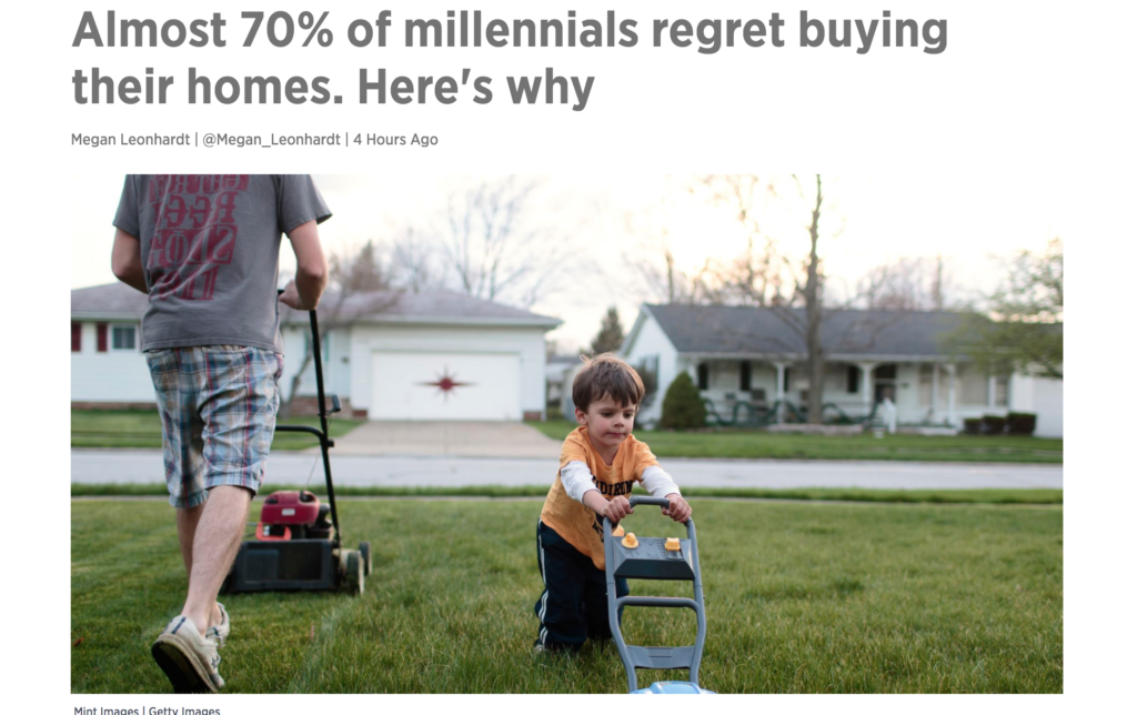 Do 70% of Millenials Regret Buying a Home