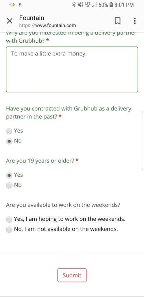 GrubHub On-Boarding