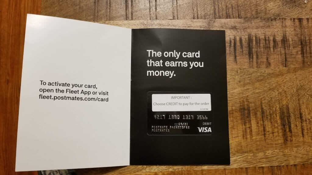 Postmates Debit Card