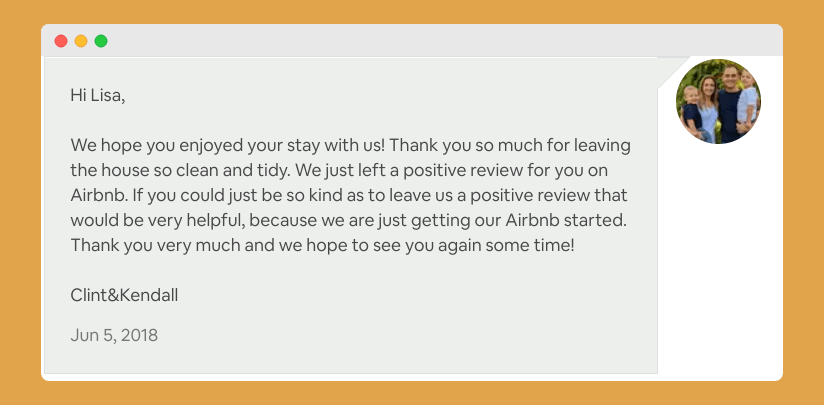 Airbnb Review Request