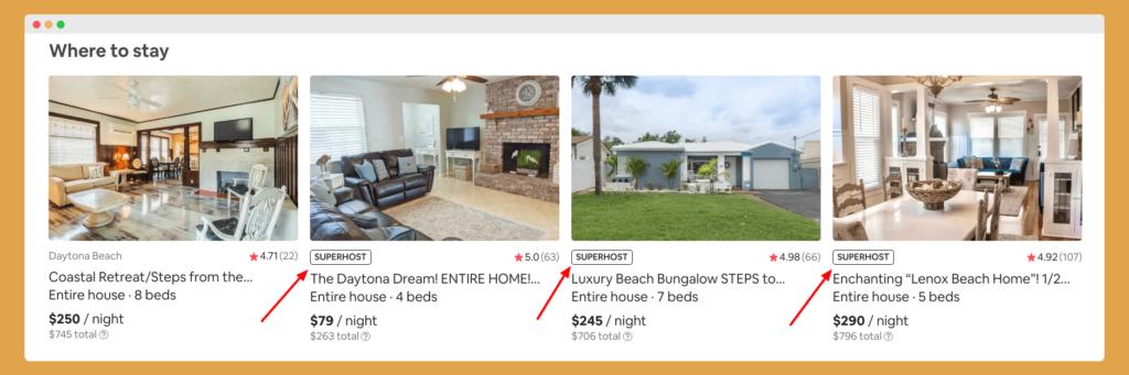 Airbnb superhost status