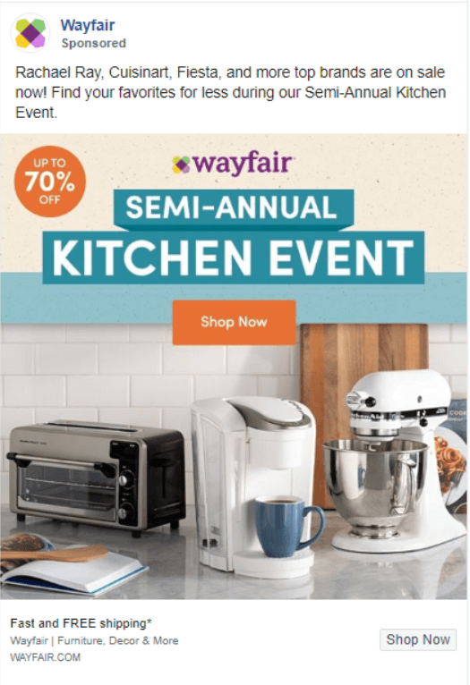 wayfair paid advertising