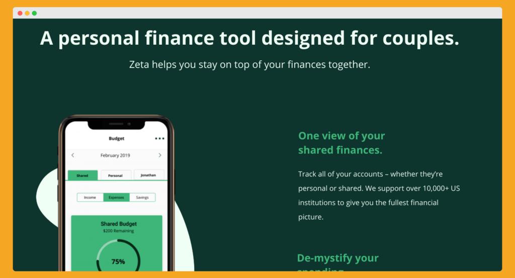 zeta budgeting app